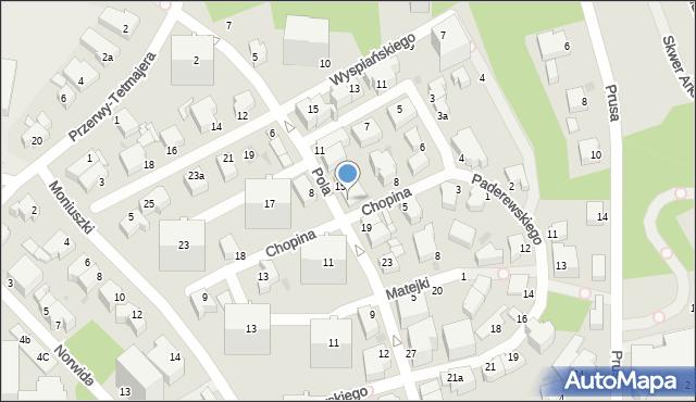Gdynia, Pola Wincentego, 17, mapa Gdyni