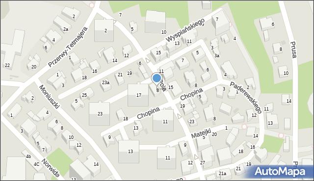 Gdynia, Pola Wincentego, 8, mapa Gdyni