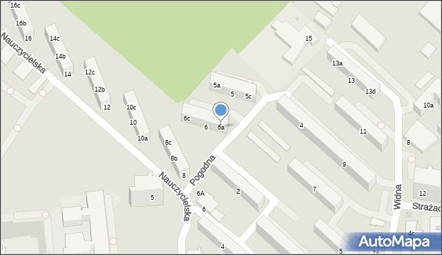Gdynia, Pogodna, 6a, mapa Gdyni