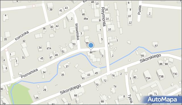 Gliwice, Poznańska, 44, mapa Gliwic