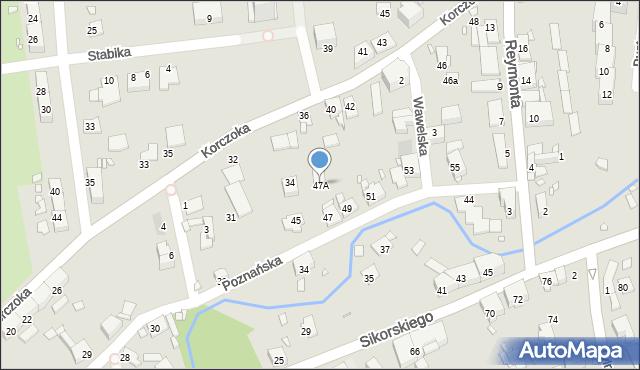 Gliwice, Poznańska, 47A, mapa Gliwic