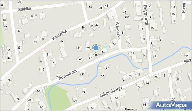 Gliwice, Poznańska, 49, mapa Gliwic