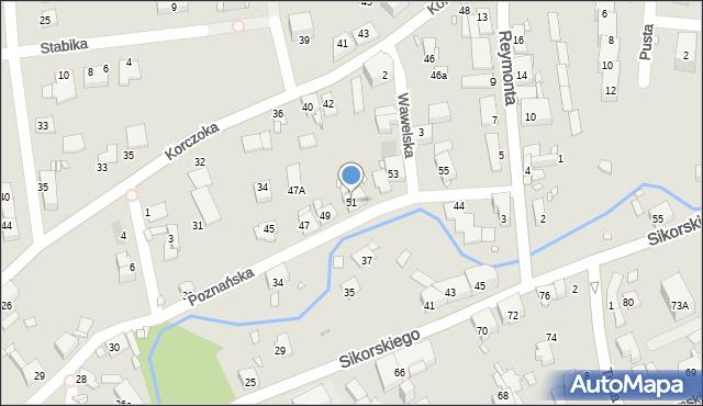 Gliwice, Poznańska, 51, mapa Gliwic