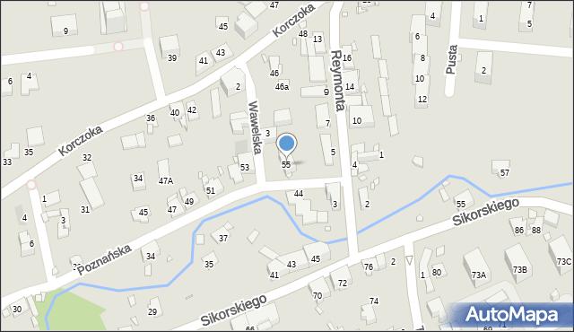 Gliwice, Poznańska, 55, mapa Gliwic