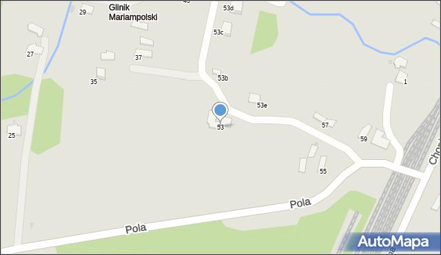 Gorlice, Pola Wincentego, 53, mapa Gorlic