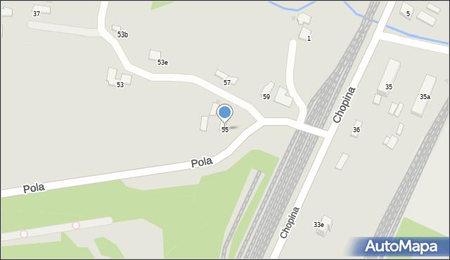 Gorlice, Pola Wincentego, 55, mapa Gorlic