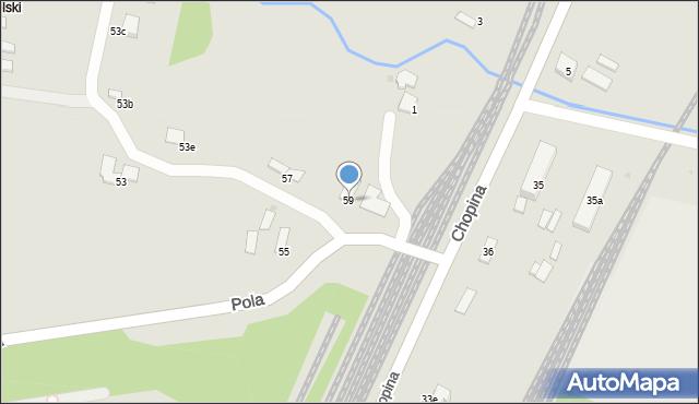 Gorlice, Pola Wincentego, 59, mapa Gorlic