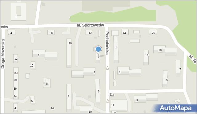 Grudziądz, Podhalańska, 2, mapa Grudziądza