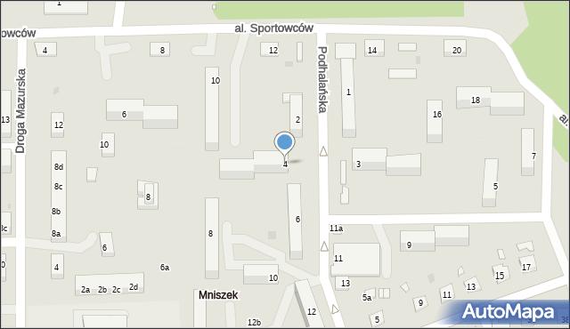 Grudziądz, Podhalańska, 4, mapa Grudziądza