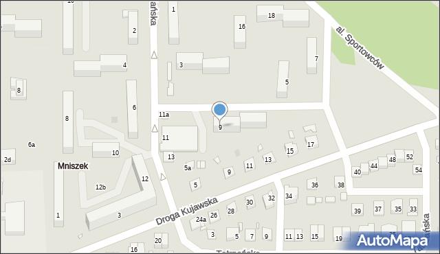 Grudziądz, Podhalańska, 9, mapa Grudziądza