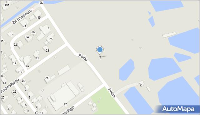 Grudziądz, Polna, 5, mapa Grudziądza