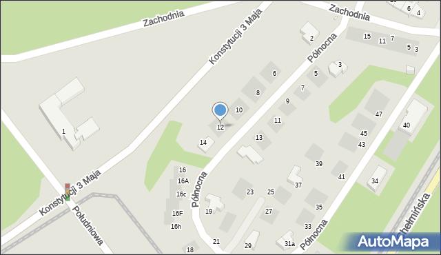 Grudziądz, Północna, 12, mapa Grudziądza