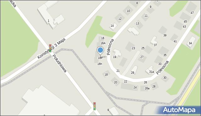 Grudziądz, Północna, 16F, mapa Grudziądza