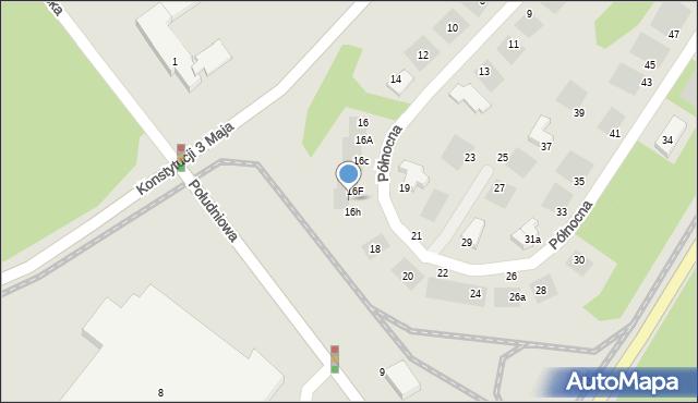 Grudziądz, Północna, 16G, mapa Grudziądza