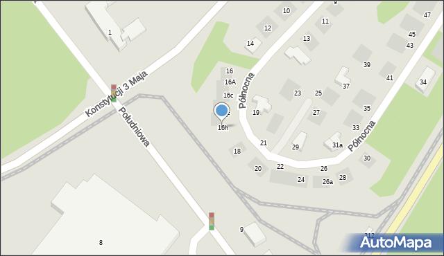 Grudziądz, Północna, 16h, mapa Grudziądza