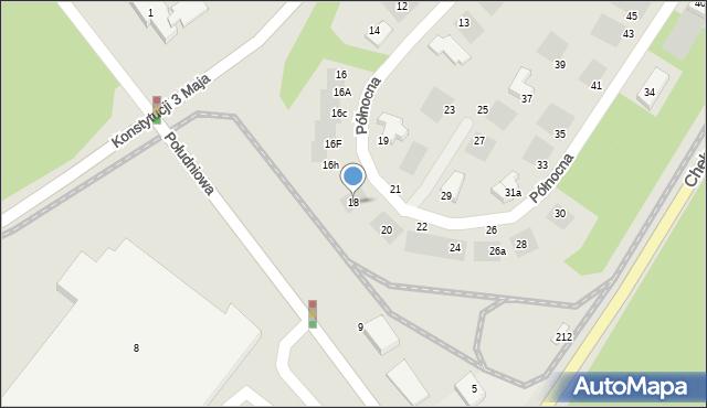 Grudziądz, Północna, 18, mapa Grudziądza