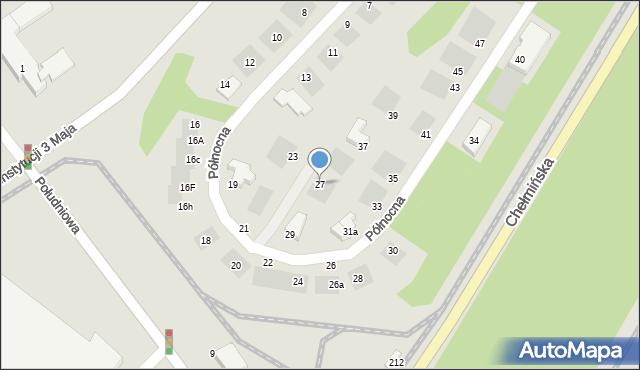 Grudziądz, Północna, 27, mapa Grudziądza