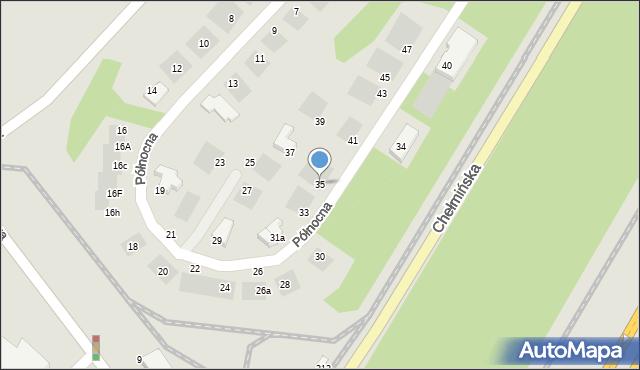 Grudziądz, Północna, 35, mapa Grudziądza