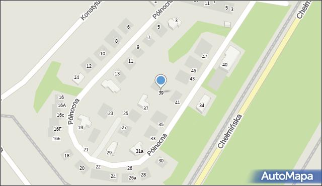 Grudziądz, Północna, 39, mapa Grudziądza