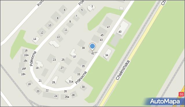 Grudziądz, Północna, 41, mapa Grudziądza