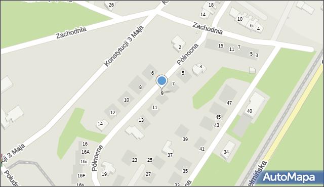 Grudziądz, Północna, 9, mapa Grudziądza