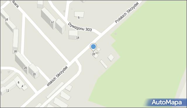 Grudziądz, Polskich Skrzydeł, 10, mapa Grudziądza