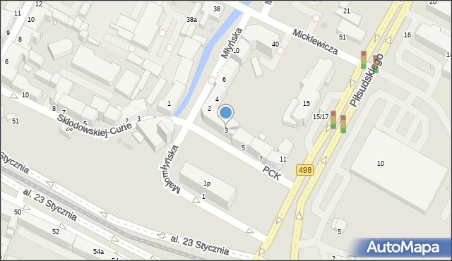Grudziądz, Polskiego Czerwonego Krzyża, 3, mapa Grudziądza