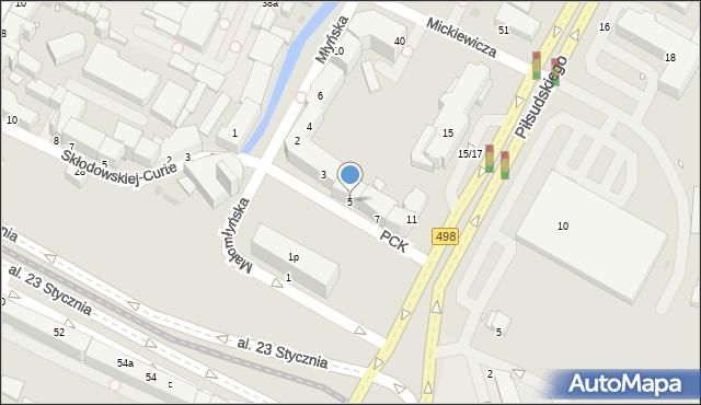 Grudziądz, Polskiego Czerwonego Krzyża, 5, mapa Grudziądza