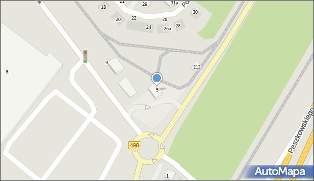 Grudziądz, Południowa, 5, mapa Grudziądza