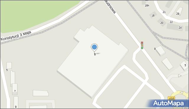 Grudziądz, Południowa, 8, mapa Grudziądza