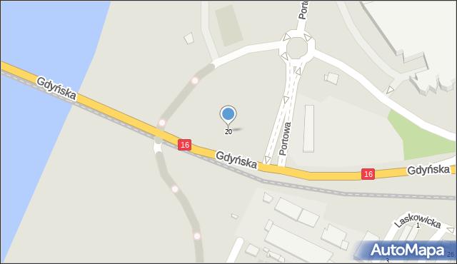 Grudziądz, Portowa, 20, mapa Grudziądza