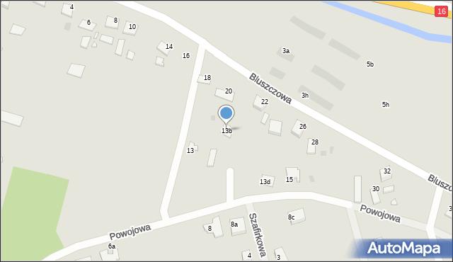 Grudziądz, Powojowa, 13b, mapa Grudziądza