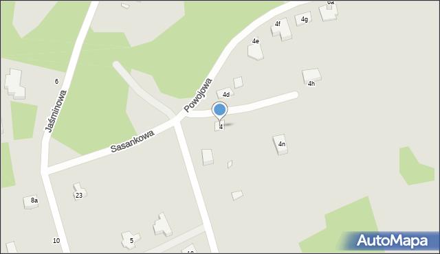 Grudziądz, Powojowa, 4, mapa Grudziądza
