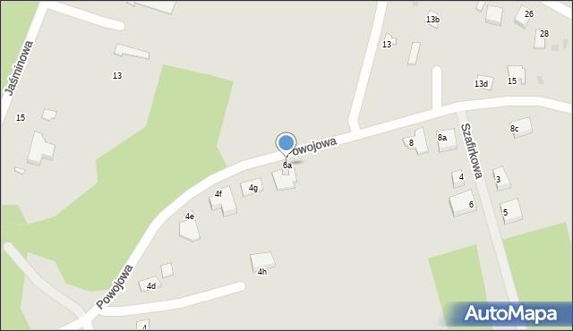 Grudziądz, Powojowa, 6a, mapa Grudziądza