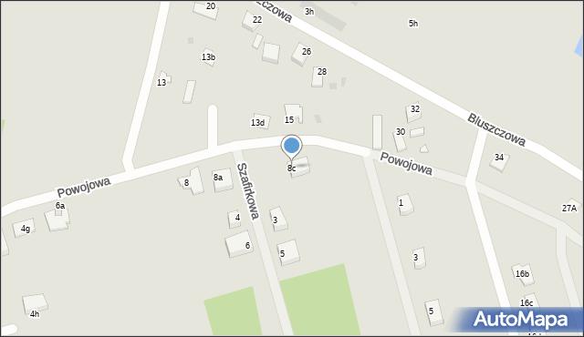 Grudziądz, Powojowa, 8c, mapa Grudziądza