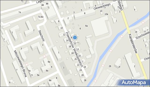 Grudziądz, Powstańców Wielkopolskich, 11, mapa Grudziądza
