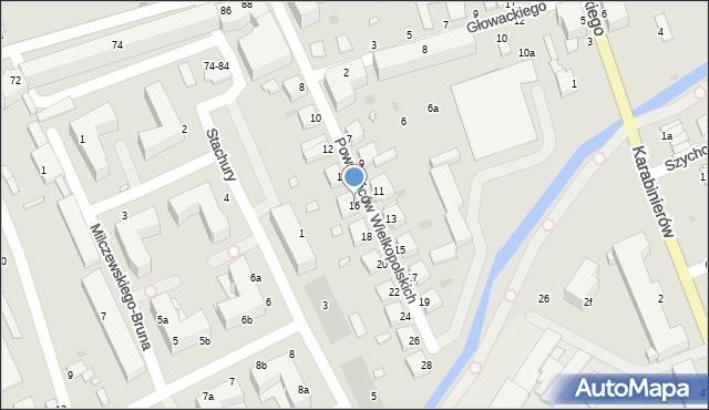 Grudziądz, Powstańców Wielkopolskich, 16, mapa Grudziądza