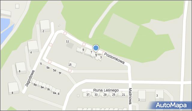 Grudziądz, Poziomkowa, 5, mapa Grudziądza