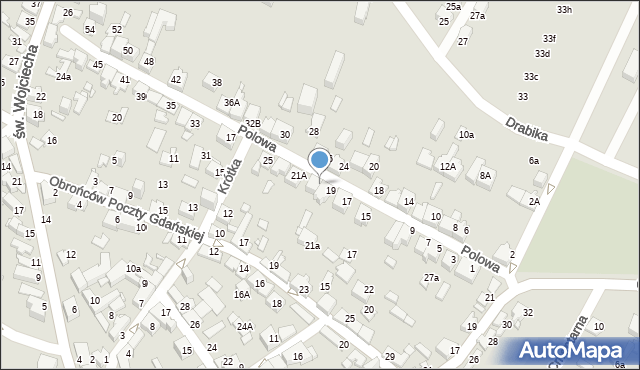 Jaworzno, Polowa, 21, mapa Jaworzno