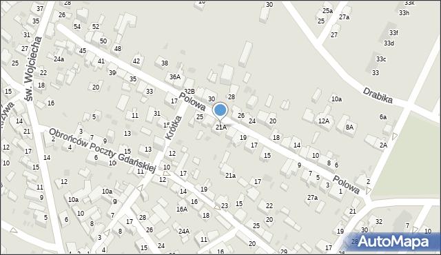 Jaworzno, Polowa, 21A, mapa Jaworzno