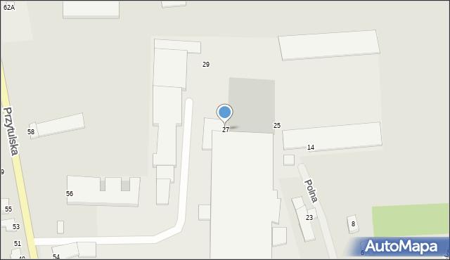 Jedwabne, Polna, 27, mapa Jedwabne