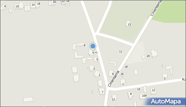 Jedwabne, Polna, 7, mapa Jedwabne