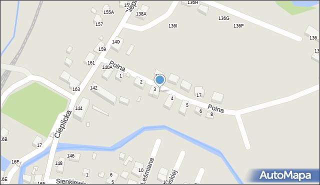 Jelenia Góra, Polna, 3A, mapa Jelenia Góra