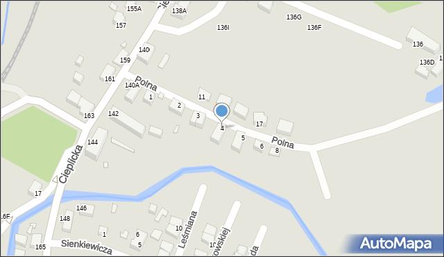 Jelenia Góra, Polna, 4, mapa Jelenia Góra
