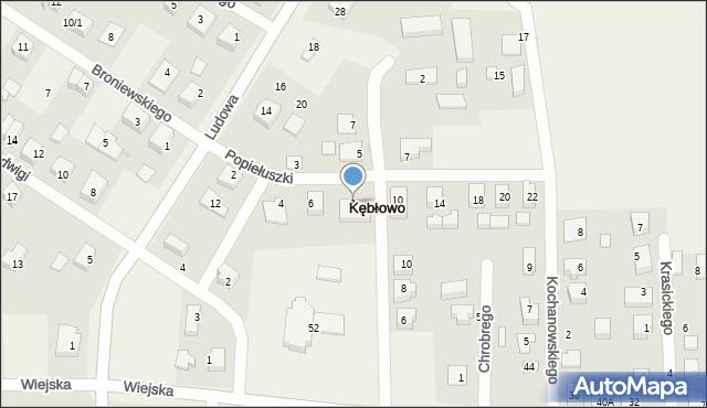 Kębłowo, Popiełuszki Jerzego, bł. ks., 8, mapa Kębłowo