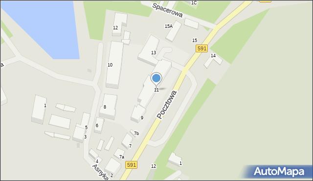Kętrzyn, Pocztowa, 11, mapa Kętrzyn