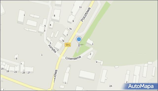 Kętrzyn, Pocztowa, 12, mapa Kętrzyn