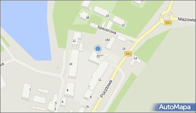 Kętrzyn, Pocztowa, 13, mapa Kętrzyn