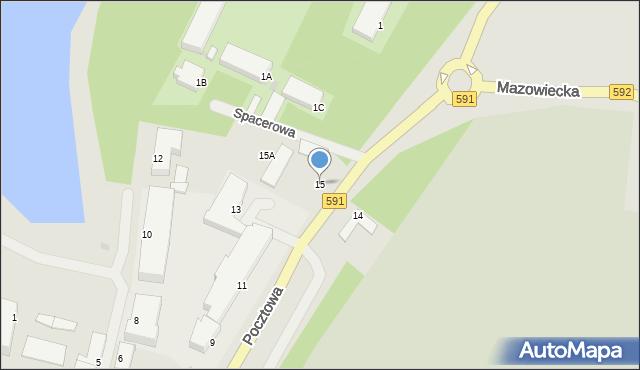 Kętrzyn, Pocztowa, 15, mapa Kętrzyn