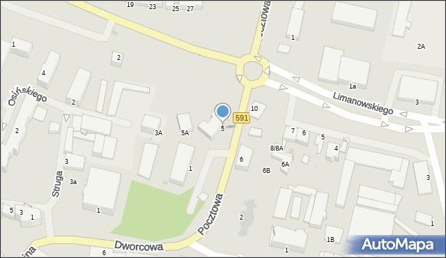Kętrzyn, Pocztowa, 5, mapa Kętrzyn
